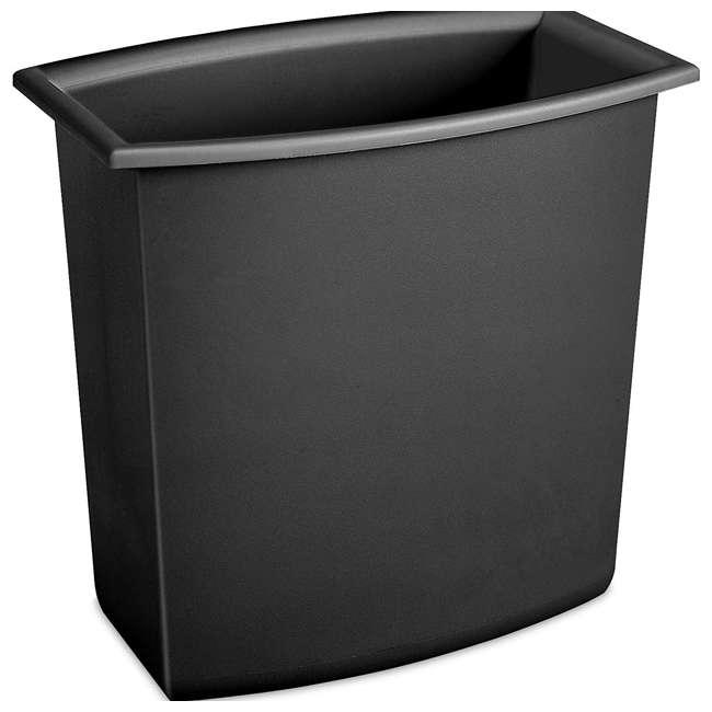 12 x 10220012  Sterilite 10220012 2-Gallon Rectangular Vanity Wastebasket, Black/White (12 Pack) 3