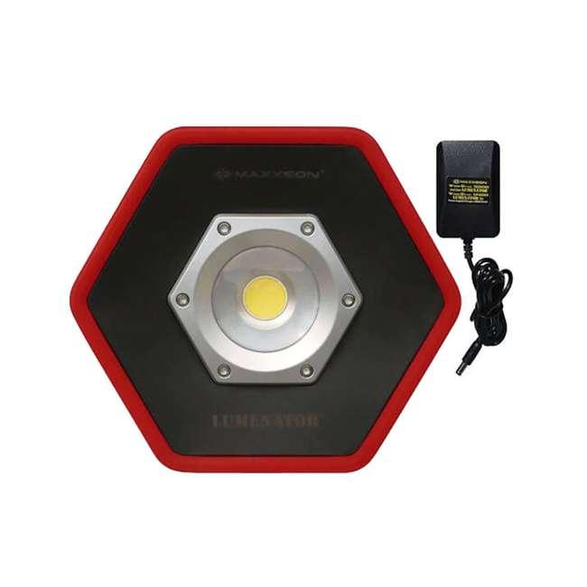 4 x MXN05000 Maxxeon Workstar 5000 Lumenator Commercial Grade LED Work Light, Red (4 Pack) 1