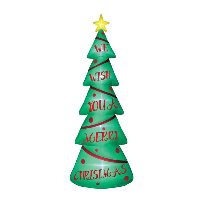 BAN-92683 Airflowz 12 Foot Light Parade Inflatable Christmas Tree with Built In LED Lights