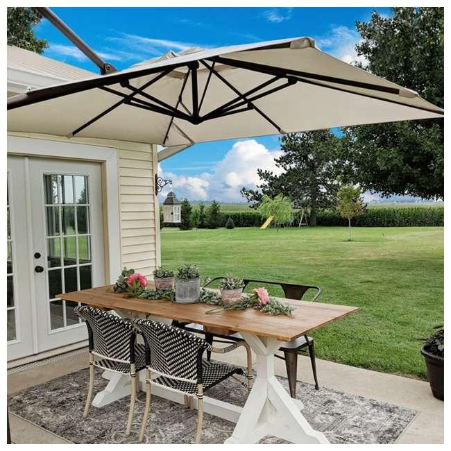 APNRC810SC Abba Patio 8 x 10 Feet Rectangular Umbrella, Sand 10