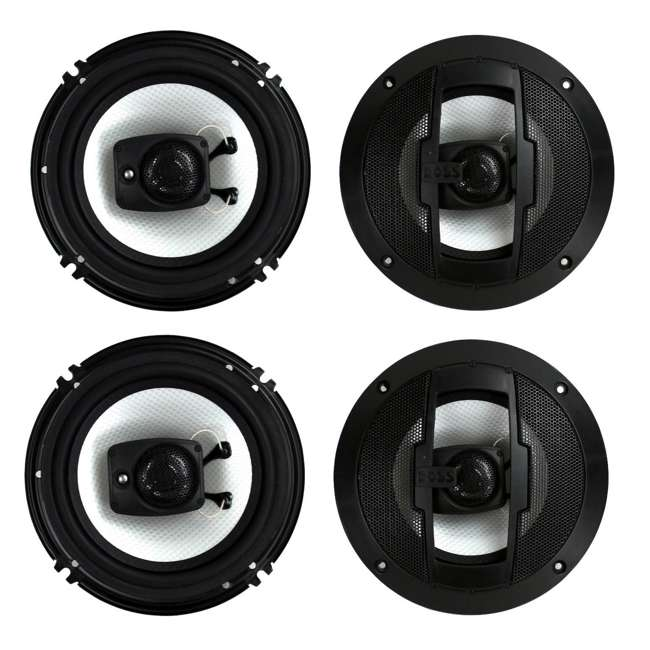 R63 Boss R63 6.5-Inch 300W 3 Way Coaxial Speakers (2 Pairs)