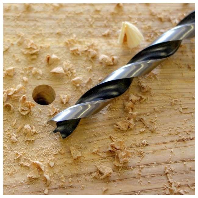 FSF-364740 Fisch 25 Piece Chrome Vanadium Steel Brad Point Drill Bit Set for Woodworking 4