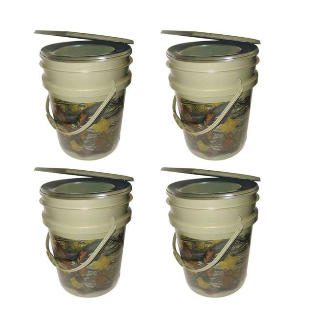 4 x 9863-03 Reliance Products Hunter's Loo Portable 5 Gallon Camouflage Toilet (4 Pack)