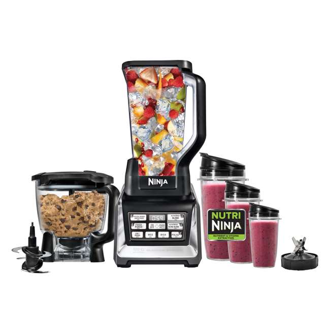 BL682_EGB-RB Nutri Ninja Blender Duo with Auto-iQ 2HP Blender with Food Processor Bowl (Certified Refurbished) 6