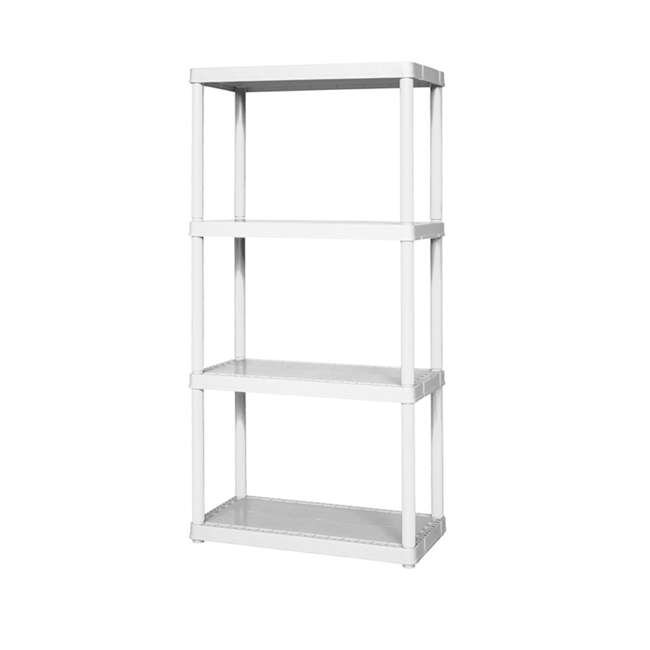 91064-1C-90 Gracious Living Easily Assembled Light Duty Solid Shelving Unit, White (2 Pack) 1