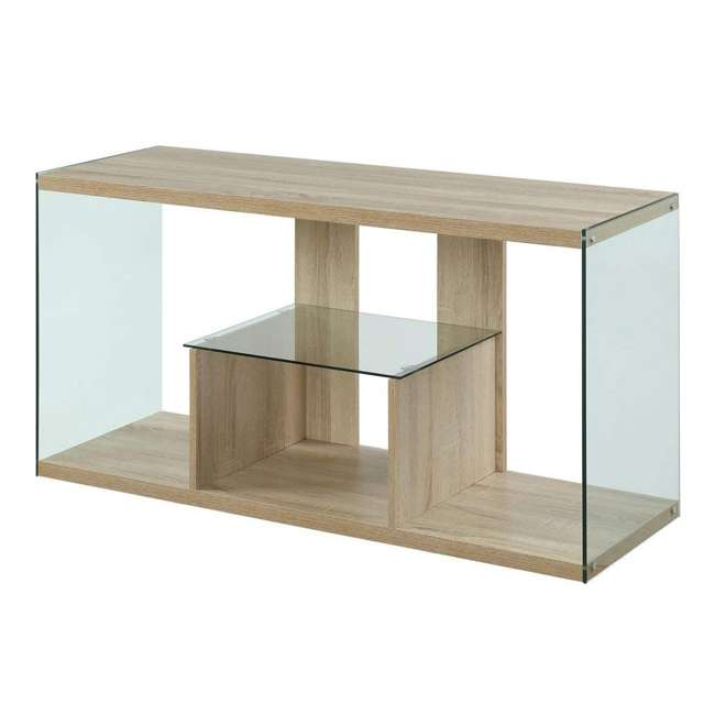 R4-0192 Convenience Concepts Soho 50 Inch Wood TV Stand Console Table, Weathered White