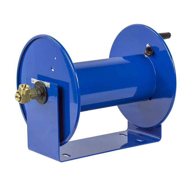 112-3-150 Coxreels 100 Series Compact Hand Crank Water and Air Hose Reel, Blue 1