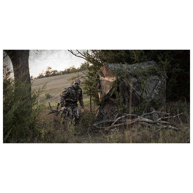 AMEBF3015 Ameristep Distorter Kick Out 3 Person Ground Hunting Concealment Blind, Mossy Oak 1