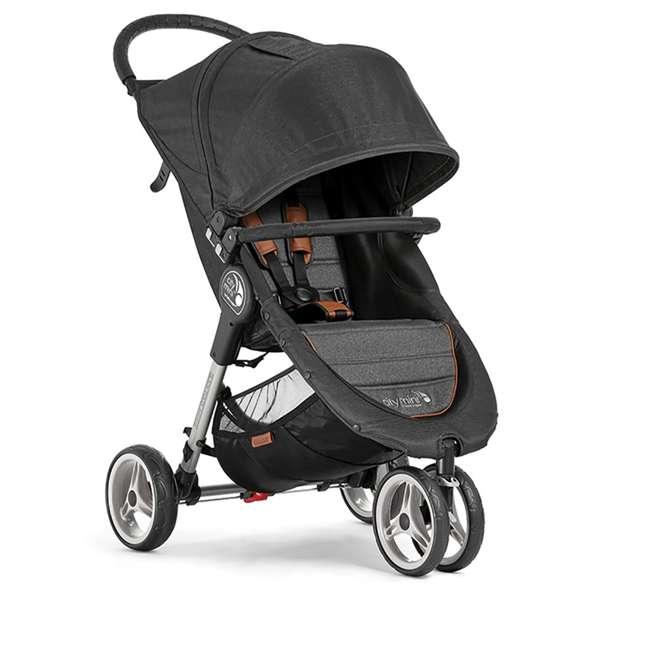 2050322 + 1968004 Baby Jogger City Mini 3 Wheel Single Stroller + Padded Travel Carry Bag 1