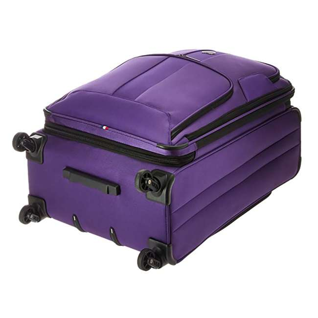 """40328282008 DELSEY Paris Sky Max 25"""" Expandable Spinner Softside Travel Luggage Case, Purple 3"""