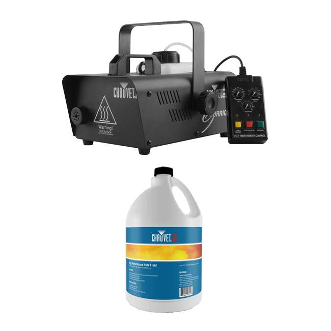 H1600 + HFG-FLUID CHAUVET DJ Hurricane 1600 Pro Fog/Smoke Machine + HFG Water Based Smoke Fluid