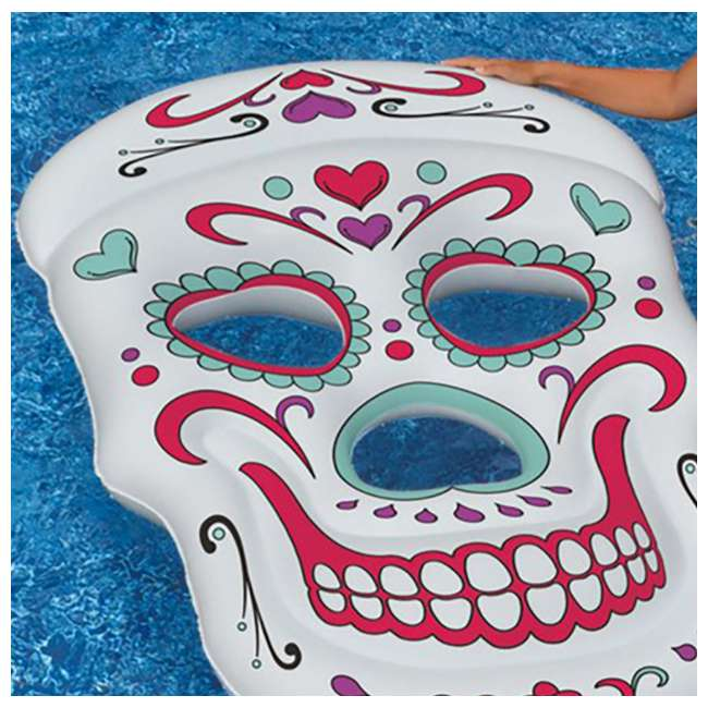 90555-U-A Swimline Giant Inflatable 62-Inch Sugar Skull Pool Island Raft (Open Box) 3