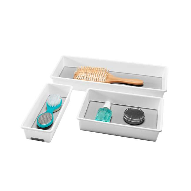 29003 MadeSmart Home Drawer Organizer 3 Tray Pack, White (2 Pack) 5