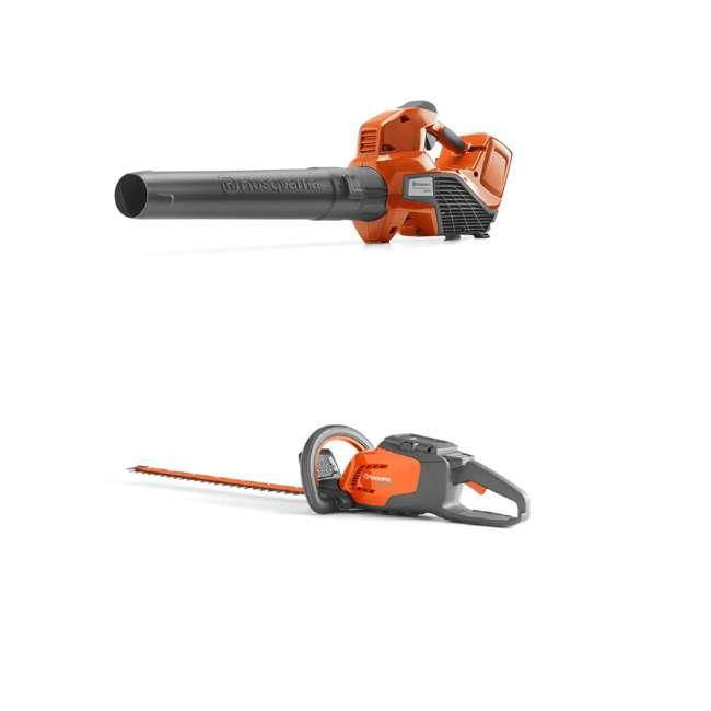 HV-BL-967094202 + HV-HT-967098602 40V Lithium Ion Leaf Blower w/ Electric 22 Inch 36 Volt Cordless Hedge Trimmer