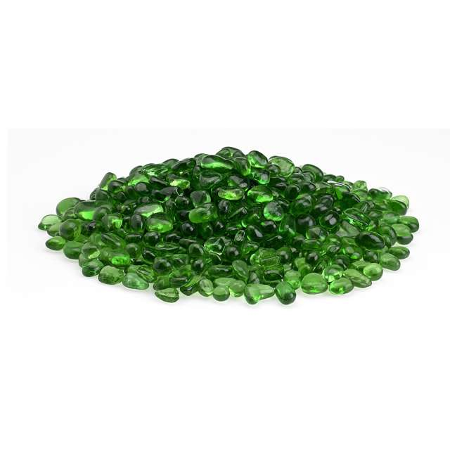 ECO-GRE-10 American Fireglass 1/4-Inch Fireplace and Fire Pit Eco Beads, 10LB, Jade Green 1