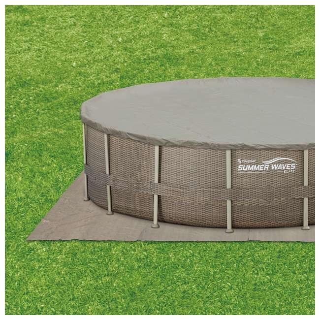 P4N02252B167 + 2 x K71071000167 Summer Waves Elite 22 Foot Pool Kit + Inflatable Rocking Chair Lounges (2 pack) 5