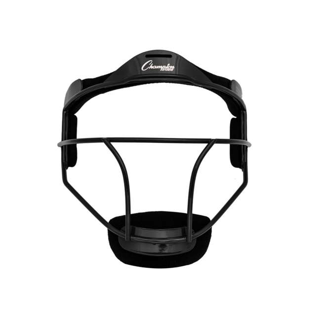 FMYBK Champion Sports Youth Softball Fielder's Metal Safety Face Mask/Guard, Black
