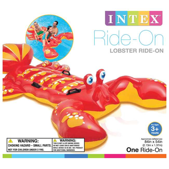 57528EP Intex Giant Lobster Ride-On Pool Raft 3