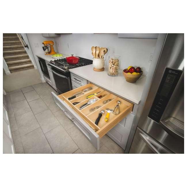 4WUT-3SH Rev-A-Shelf 4WUT-3SH Kitchen Drawer Shallow Wood Utility Tray Insert, Natural 2