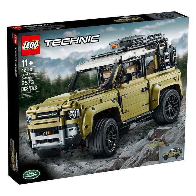 6283904 LEGO Technic 42110 Land Rover Defender 2573 Piece Block Building Kit Olive Green 1