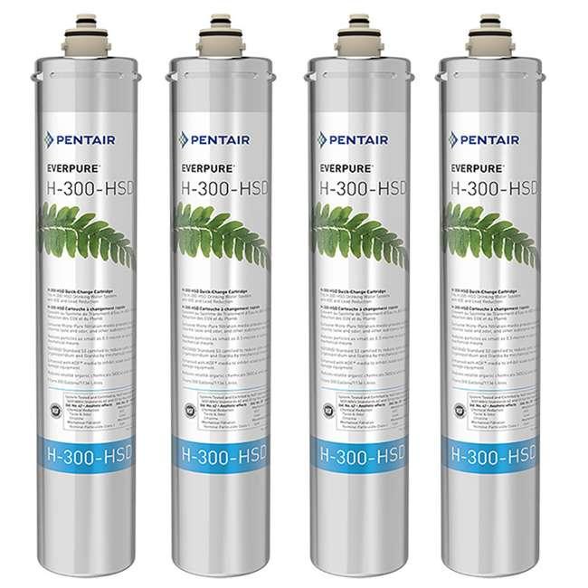 4 x EV927075 Pentair Everpure H-300-HSD Water Filter Replacement Cartridge (4 Pack)