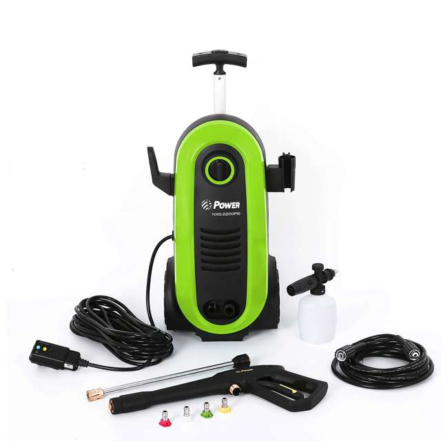 NXG-2200G-U-D Bloom USA PSI 1.76 GPM 14.5 Amps Electric Pressure Power Washer, Green (Damaged)