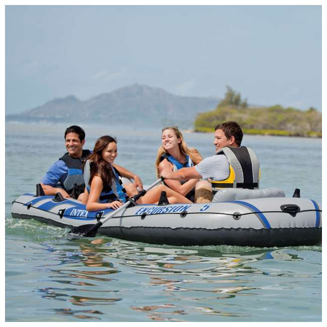 68325EP Intex Excursion 5 Inflatable Boat Set 1