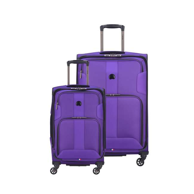 40328297708 DELSEY Paris Versatile 2 Size Sky Max Expandable Soft Travel Luggage Set, Purple