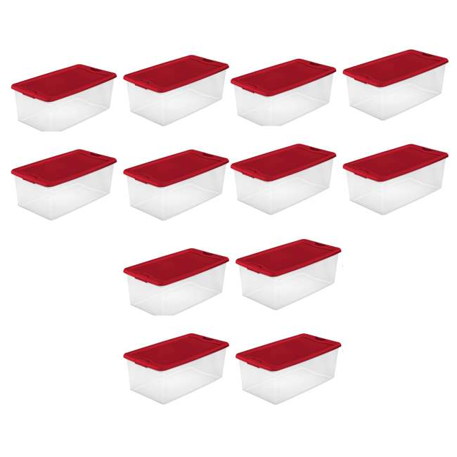 12 x 14996604 Sterilite 106 Quart Latching Plastic Stackable Storage Container Bin (12 Pack)