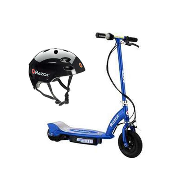 13111240 + 97778 Razor E100 Scooter & Youth Sport Helmet