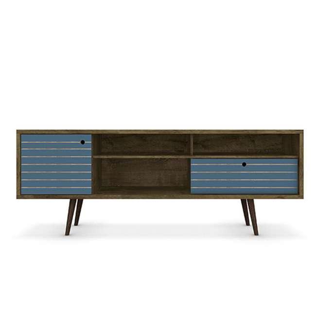 202AMC93 Manhattan Comfort Liberty 70.86 Inch Mid Century Modern Wood TV Stand with Legs