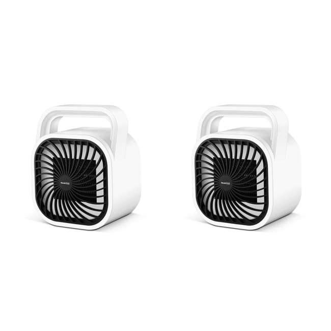 HA31-05E Geek Heat HA31-05E 500 Watt Mini Personal Portable Ceramic Fan Space Heater (2 Pack)