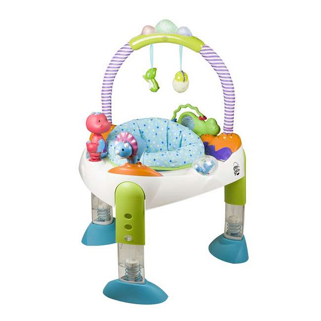 EVEN-61611769-U-A Evenflo Exersaucer Fast Fold & Go D is for Dino Baby Bouncer (Open Box)