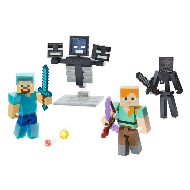 FCW12 Mattel Minecraft Wither Warfare Action Figures Toy Multipack (2 Pack) 2