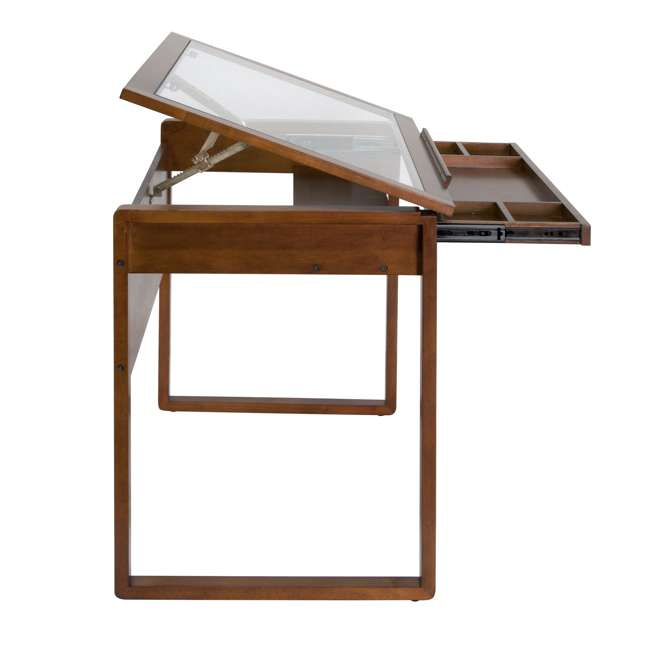 STDN-13280 Studio Designs Wooden Glass Top Ponderosa Drafting Desk (2 Pack) 4