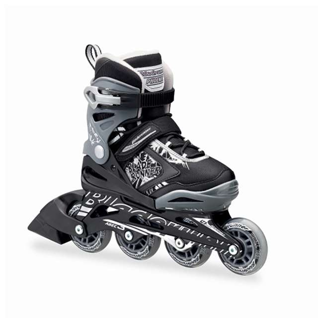 0T612200816-11J-1 Bladerunner Phoenix Boys Adjustable Kids Junior Inline Skates, Black and Silver