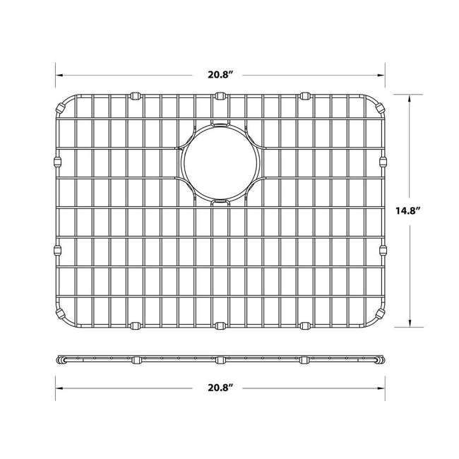 BG2317-U-A Kraus Dex Series 25 In. Stainless Steel Sink Bottom Grid Grate (Open Box) 2