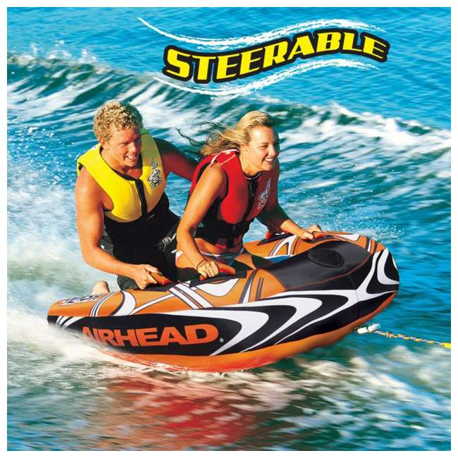 AHSL-32-OB Airhead Slash II Double Rider Inflatable Steerable Boat Towable Tube | AHSL-32 (Open Box) 1