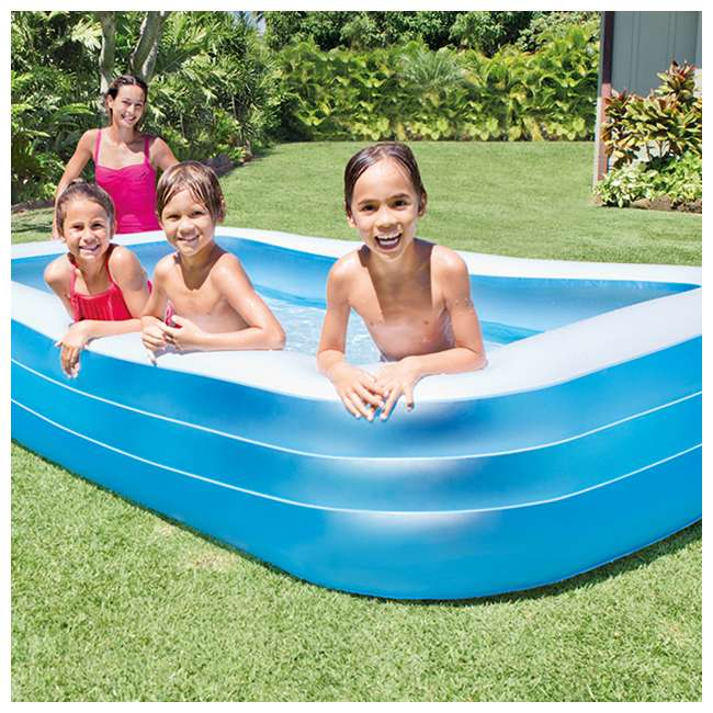 Intex swim center family swimming pool and quick fill air for Intex pool handler