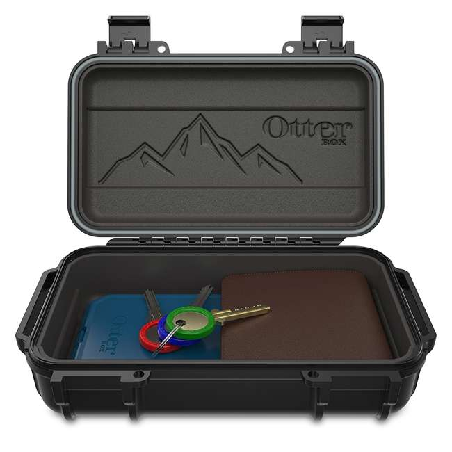 77-54442 OtterBox 3250 Series 0.9 Liter Small Lockable Waterproof Storage Drybox, Black 7