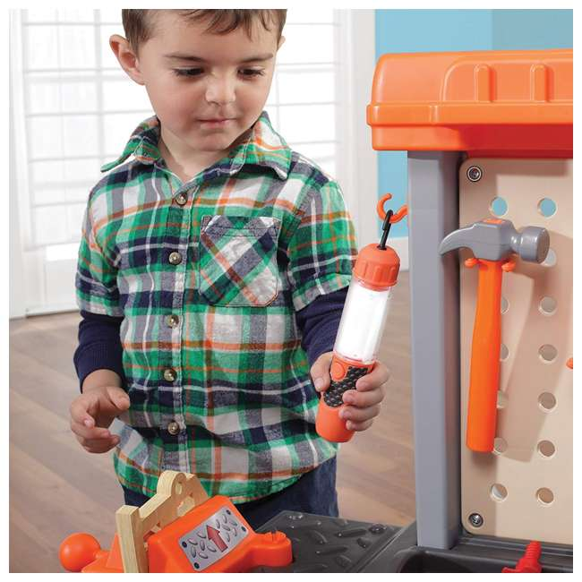 489499 Step2 Pretend Play Handyman Workbench, Orange 5
