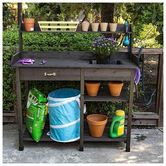 729BL Bloom Natural Fir Potting Indoor/ Outdoor Work Bench/ Station w/ Sink & Storage 2