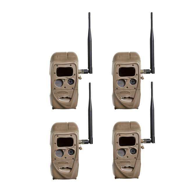 11445 + 4 x SD4 + 4 x 3488 + 4 x STC-CABLELOCK Cuddeback Cameras (4) & Memory Cards (4) & Mounts (4) & Cables (4) 1