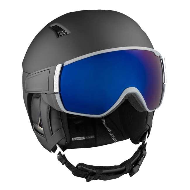 L39919359 Salomon Driver+ Mens Black & Silver Skiing Helmet with S1 & S3 Visors, Medium 1