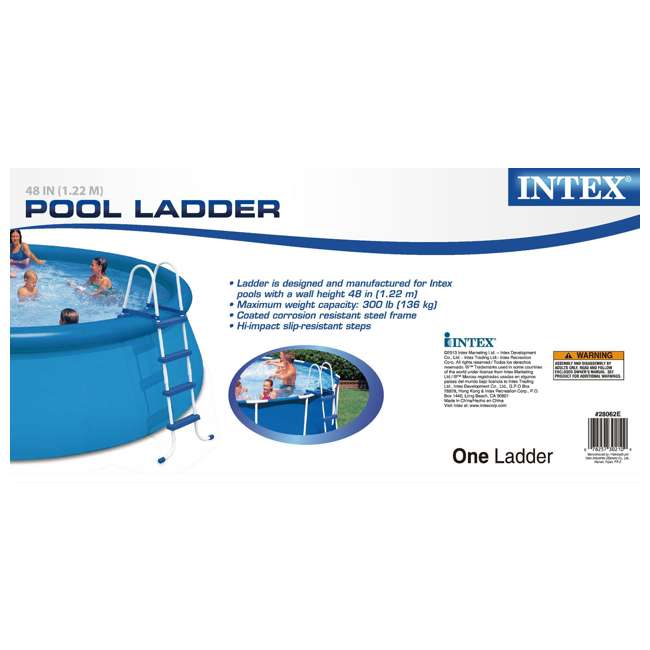 Intex 48 Inch Above Ground Swimming Pool Ladder 28062e