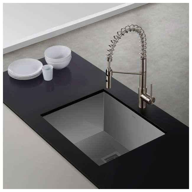 KHU23 Kraus Pax 22.5-Inch Rectangular Undermount Kitchen Sink (2 Pack) 3