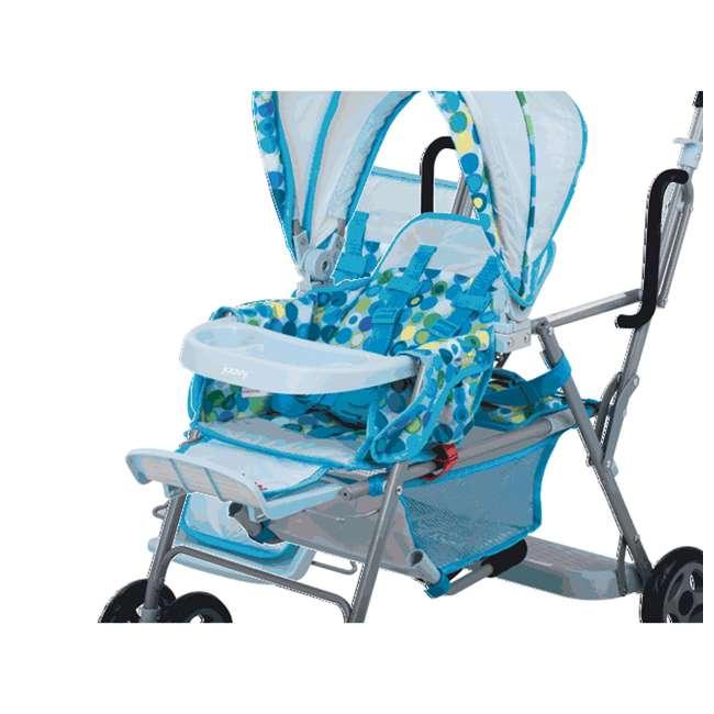 JVY-043 + JVY-003 Joovy Toy Doll Caboose Pretend Play Stroller & Car Seat, Blue Dot 4