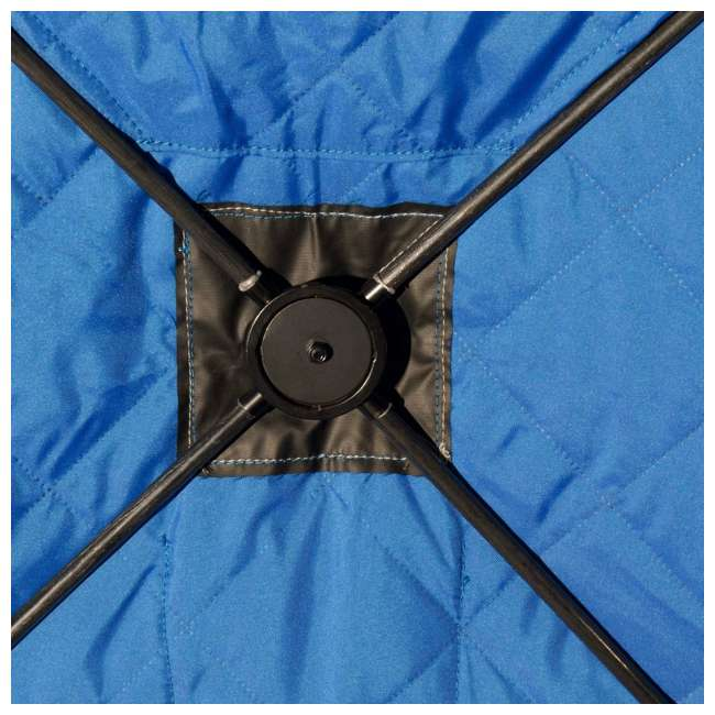 CLAM-14477 Clam 14477 C-560 Thermal 7.5 Foot Pop Up Ice Fishing Angler Hub Shelter, Blue 2