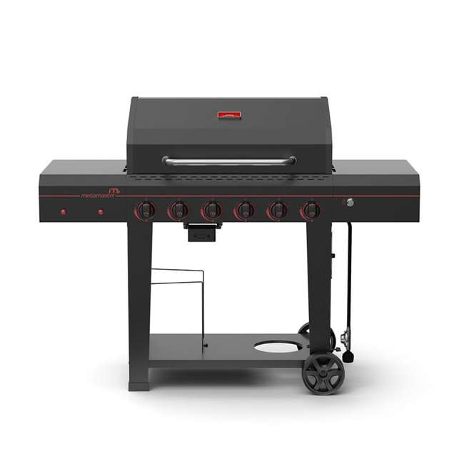 720-0983-U-A Megamaster Electronic 6 Burner 753 Sq. Inch Gas Grill w/ Thermometer (Open Box)