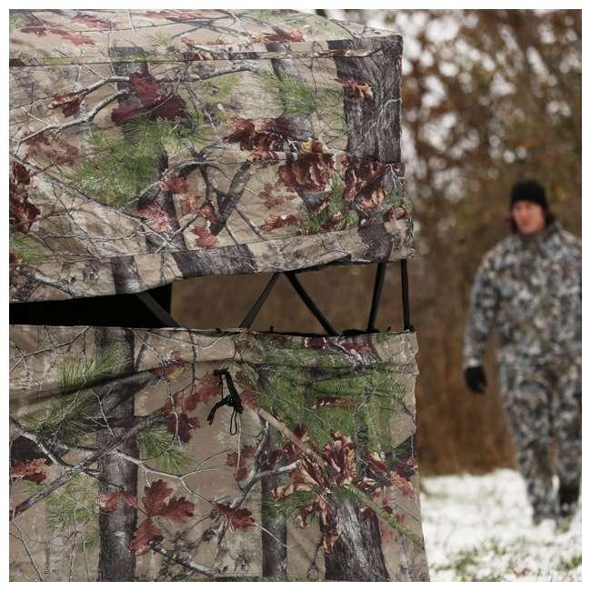 BARR-BM12BW Barronett Blinds Big Mike 2.0 Backwoods Ground Hunting Blind 80 Inch Camouflage  2